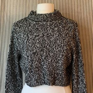 Cropped Knit H&M Black and White Sweater
